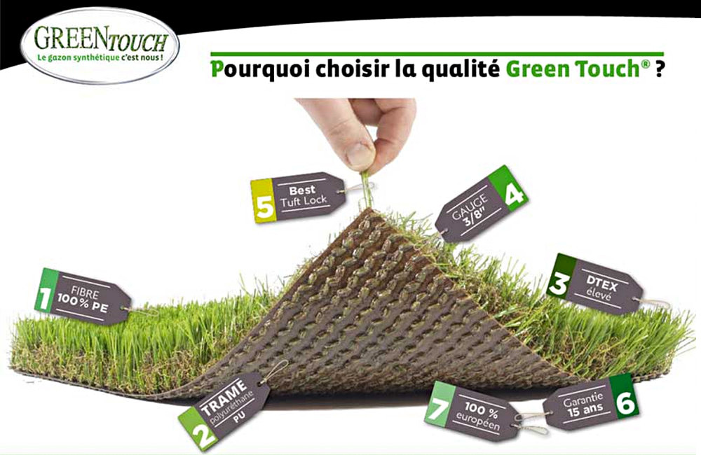 Qualité gazon synthétique Green Touch